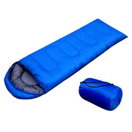Wholesale Summer Sleep Bag - Wholesale- JHO-Outdoor Waterproof Travel Envelope Sleeping Bag Camping Hiking Carrying Case Blue