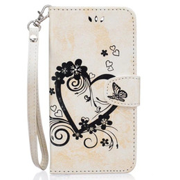Wholesale Purple Heart Purse - Strap Wallet Flip Leather Pouch Case For Google Pixel XL Heart ID Card Holder Stand Money Photo TPU Love Flower Butterfly Purse Cover Luxury