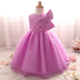 Wholesale Kids Designer Wholesale Clothes - Wholesale- 2017 Brand-New designer Baby Girl Dress Wedding Infant Princess 1 2 year Birthday baptism dress Party Girl Clothes kids clothing