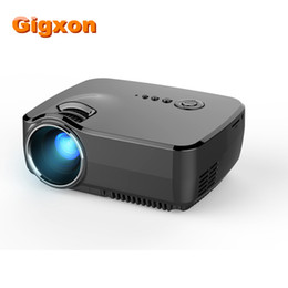 Wholesale vga tuner - Wholesale-Gigxon-G700 2016 Newest High Lumens Mini Portable Home LED Projector with TV Tuner 800*480p 1200 lumens HDMI VGA