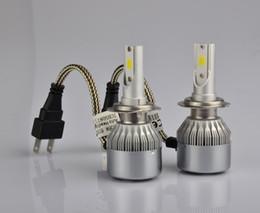 Wholesale Light H3 - C6 2pcs Car Headlights 72W 7600LM Led Light Bulbs H1 H3 H7 9005 9006 H11 H4 H13 9004 9007 Automobiles Headlamp 6000K Fog Lamps