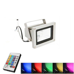 Wholesale Color Led Lamps - Outdoor 10W 20W 30W 50W 100W Waterproof IP65 LED Flood Light RGB Color Changing Wall Washer Lamp LED Lighting + 24Key IR Remote Controller