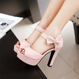 Wholesale Small Size Shoes Women - Sandals PU Woman's shoes Big 45 46 40 41 42 Small shoes 32 33 High Heel 11.5CM Platform 3CM EUR Size 31-47