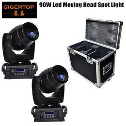 Wholesale Luminus Led - 2IN1 Flight Case Pack 90W LED Moving Head Light USA Luminus Lamp DMX 16CH Super High Brightness Optical Lens Big Size 100V-220V