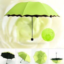Wholesale Uv Sun Protection Umbrella - Sun Umbrella Folding Color Changing Magic Umbrella Sun Rain Protection Folding UV-Protection Parasol Free Shipping ZA2984