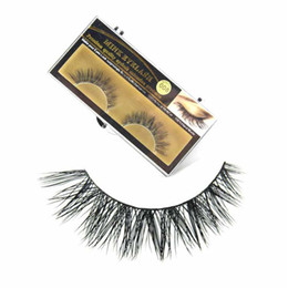 Wholesale Thick Black Lashes - Premium Quality 3D False Eyelashes Handmade Natural Long Thick Mink Fur Eyelashes Soft Fake Eye Lash extensions Black Terrier Full Strip Las