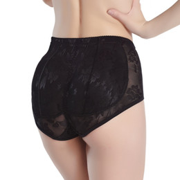 Imbottitura in silicone online-All'ingrosso - Silicone all'ingrosso imbottito mutandine Shapewear donne Bum Butt Hip Lift Enhancing Underwear Knicker