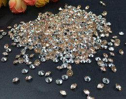 Wholesale Purple Confetti Diamonds - 10000pcs 4mm Yellow Acrylic Diamond Confetti Wedding Party Table Scatters Crystal Decoration