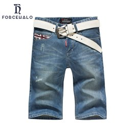 Wholesale Summer British Style Tops - Wholesale-2016 Fashion Summer Men Denim Shorts British Style Casual Shorts Jeans For Men Plus Size 28-38 Top Quality
