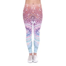 free knit patterns Promo Codes - Women Leggings Aztec 3D Graphic Print Girl Skinny Stretchy Pencil Pants Yoga Colorful Pattern Sportwear Elastic Waist Soft Trousers (J90861)