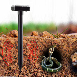 Wholesale Gardening Pest Control - ABS Garden Yard Solar Power Ultrasonic Gopher Mole Snake Mouse Pest Repeller Control Garden Yard mouse Repellent