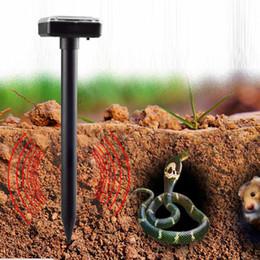Wholesale Repeller Snake - ABS Garden Yard Solar Power Ultrasonic Gopher Mole Snake Mouse Pest Repeller Control Garden Yard mouse Repellent