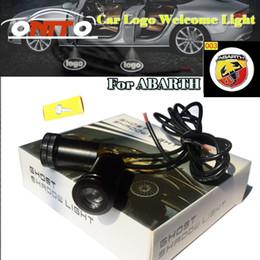 mandos a distancia volvo Rebajas Buena calidad Car styling 12 V 10 W Coche Puerta Proyector Luz 3D Luz de Bienvenida para abarth logo lámpara de coche Accesorios de Automóviles