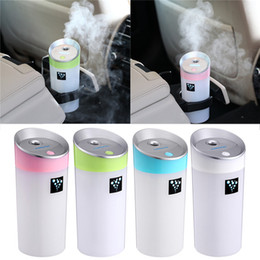 Wholesale Ultrasonic Aroma - 300ML Ultrasonic Humidifier USB Car Humidifier Mini Aroma Essential Oil Diffuser Aromatherapy Mist Maker Home Office