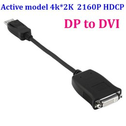 Wholesale Multiple Monitors Adapter - 50set Active model 4k 2K 2160P HDCP DisplayPort 1.2 DP Male to DVI Female Video Audio HDTV Converter Adapter Multiple Monitor