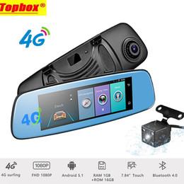 "Wholesale Wifi Gps Dvr Car - 4G Touch Dash Cam Dual Lens Car DVR 7.84"" ADAS Camera Mirror with GPS Navigation Bluetooth Android 5.1 Wifi 1080P Registrar"