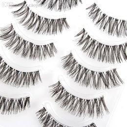 Wholesale Wispy Eyelashes Wholesale - Wholesale-2015 New Arrival 5 pair Makeup Long Natural False Eyelashes Wispy Fake Lashes Upper Fake Eyelashes Wholesale