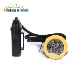 Wholesale Miners Headlights - 10pcs lot New 1+2 LED Satety Miner Lamp KL8M(H) Explosion Proof Headlight Hunter Light Waterproof Cap Lamp for Outdoor Sports