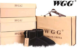 Wholesale Ladies Flat Winter Boots - New Winter BRAND WGG Snow Boots Classic Women Warm Christmas Ladies men ankle snow boots size 35-44