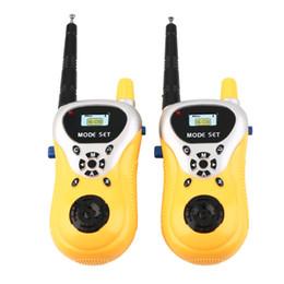Wholesale Talkie Walkie Spy Kids - 2Pcs Electronic Walkie Talkie Toy Spy Gadgets Yellow Intercom Kids Spy Toys Interphone Electronic Portable Two-Way Radio Set