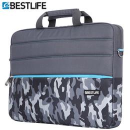 Wholesale Tablet Computer Briefcase - Wholesale- BESTLIFE Waterproof Computer laptop handbag crossbody bag Briefcase Case Camouflage Shoulder Messenger Canvas Bag tablet package