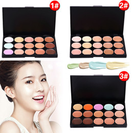 Wholesale 15 tool - Professional 15 Colors Concealer Foundation Contour Face Cream Makeup Palette Tool for Party Wedding Daily Ladies Makeup Contour Palette