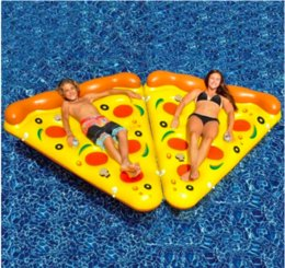 Wholesale Mattress Giant - Air Mattress Swimming Pool Water Toy Giant Yellow Inflatable Pizza Slice Floating Bed Raft Swimming Ring free shipping