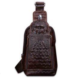 Новая кожа мужская сумка мужская грудь крокодил pattern кожа мужская сумка европейский и американский ветер сумка messenger от Поставщики лакированная кожа синяя сумка дамы