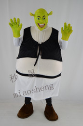 Wholesale Shrek Mascot Costumes - 17 years of the new Shrek mascot costume high quality fancy dress adult size party Halloween,christmas party clothing.