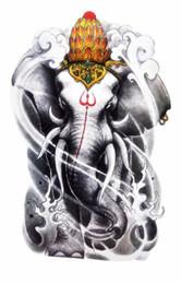 Wholesale tattoos wholesale india - Wholesale- Body Art Beauty Makeup Holy India Elephant God Waterproof Temporary Tattoo Stickers Sexy