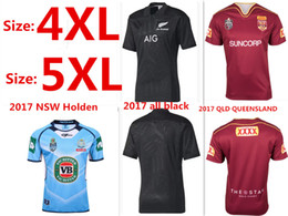 Wholesale Large Size Jerseys - 2017 NRL National Rugby League Queensland QLD Maroons Malou Rugby jerseys Extra large size S-4XL-5XL