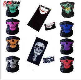 Halloween Party spaventoso maschera di protezione mezza maschere Festival di scheletro del cranio del motociclo Multi biciclette maschere sciarpa mezza Face Ski Mask Bi Cap collo fantasma da maschera per freddo fornitori