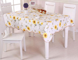 Wholesale tablecloth wholesale - Waterproof & Oilproof Wipe Clean PVC Vinyl Tablecloth Dining Kitchen Table Cover Protector OILCLOTH FABRIC COVERING