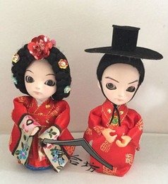 Wholesale Pure Jazz - Ethnic dolls pure arts and crafts Beijing silk Q version of adorable baby wedding decorations birthday gift