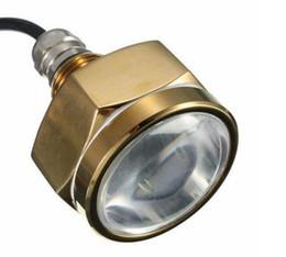 Wholesale Brightest 12v Lights - Lowest Price Waterproof IP68 27W Rate 9 LED Underwater Marine Boat Drain Plug Light Brightest 1800 Lumens DC11-28V MYY