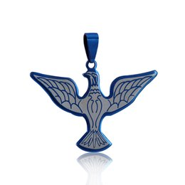 Wholesale Mens Jewelry Wings - Women Mens Pendants Necklace Stainless Steel Personality Jewelry 2017 HOT SALE Bird Wings Handmade Christmas Charming Gifts