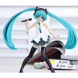Wholesale Anime Figure Hatsune Miku - Anime Hatsune Miku microphone Concert Ver PVC Action Figure Collectible Model doll toy 17cm for Comic and Animation fans