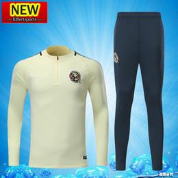 Wholesale Clubbing Pants Men - 2017 Men's Mexico Club America Survetement Training Suits AAA+ Quality 17 18 Tracksuits Football Shirts Long Sleeve Pants uniforms Sets