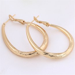 Wholesale Earring Yellow Gold Jewelry - Women Charm Jewelry Fashion Earrings 18K Yellow Gold Plated Fashion Personality Hoops Earrings for Party Nice Birthday Gift ER-955