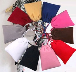 Wholesale Cm Headphone - Jewelry Flannelette Bags u disk mp3 mp4 Headphones Black Bag Pocket Customized Spot Beam Wholesale Charms earrings Gift bag 7 * 9 cm