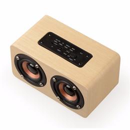 Wholesale Portable Player Wifi - Retro Wooden Bluetooth Speaker WIFI Wireless Speaker 3D Dual Loudspeakers Surround Mini Portable bluetooth USB Charging