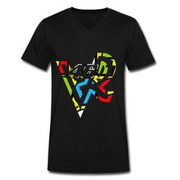 Wholesale Vr Shirt - Sleeve Shirts Fashion Mens VR 46 Motor Racing Custom Printed V-neck T-shirts Black XX-Large