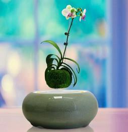 Wholesale Indoor Bonsai Light - Ceramics Magnetic levitation Floating Plant Pots ,ceramic indoor air bonsai, levitating potted plant as a gift