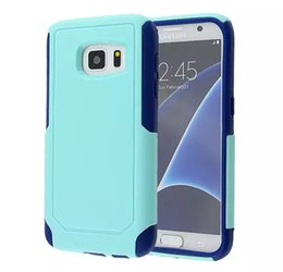 Wholesale Hard Plastic 4s - For Galaxy S8 Commuter 2 in 1 Hybird Case Hard Armor Cover for iPhone 7 6 6plus 5s se 5c 4s Samsung S7 Edge S6 Note5 with Retail Packaging