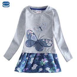 Wholesale Nova Baby Dress - baby girl dress for girl clothes dresses nova kids clothes children flower embroidery long sleeve girl dress children clothing