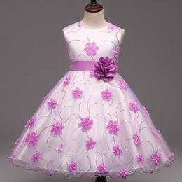 Wholesale Children Maxi - Flower Girl Dresses Petal Dress Wedding Easter Bridesmaid For Baby Children Toddler Teen Girls Tutu Flower Dress DK1044CR