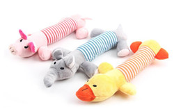 Wholesale Puppy Toy Pig Squeaker - Pet Puppy Chew Squeaker Squeaky Plush Sound Pig Elephant Duck For Dog Sound Toys