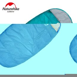 Wholesale Thinnest Sleeping Bag - Wholesale- Naturehike 230 X 100cm (L) Thin Spring Autumn sleeping bag Outdoor Ultra-light Blue Green Red Hiking Cotton
