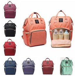 Wholesale Tote Organizer Diaper Bag - Mommy Backpack Nappies Bags Fashion Mother Backpack Diaper Maternity Backpacks Large Volume Outdoor Travel Bags Organizer 8 style