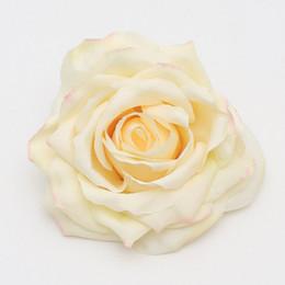 De alta qualidade 12 cm de seda rosas vermelhas cabeça de flor - 4.7